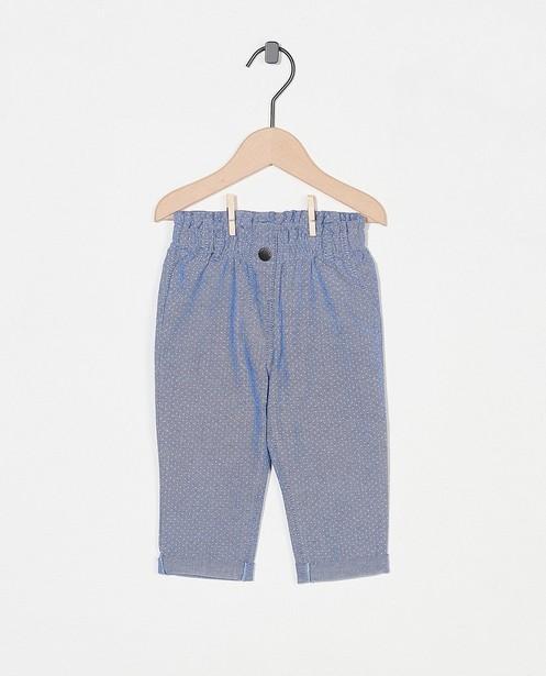 Blauw broekje met stipjes - allover - Cuddles and Smiles