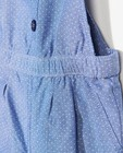 Jumpsuits - Blauw chambray jumpsuitje met stippen