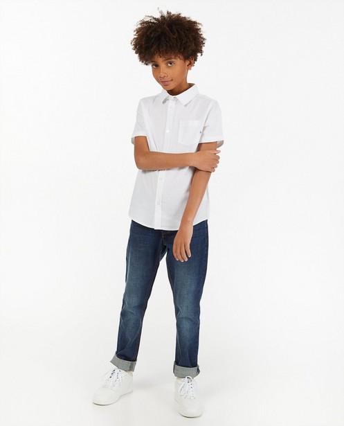 Wit hemd met korte mouwen - van katoen - Fish & Chips