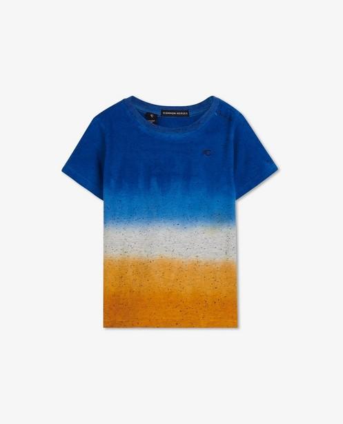 T-shirt avec un dégradé Common Heroes - bleu, blanc et cognac - Common Heroes