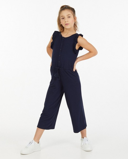 Blauw jersey jumpsuit - stretch - Fish & Chips