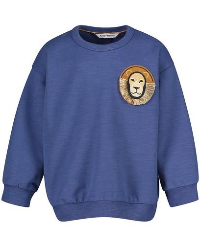 Blauwe sweater van biokatoen