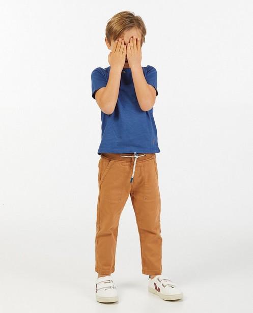 T-shirt bleu en coton bio - stretch - Kidz Nation