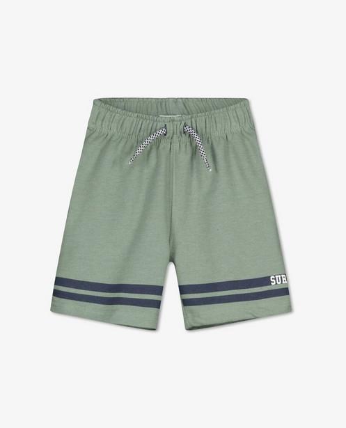 Groene sweatshort Dirkje - met strepen - Dirkje