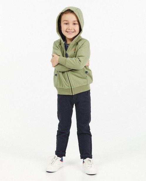 Gilet molletonné vert à capuchon - de French Terry - Kidz Nation