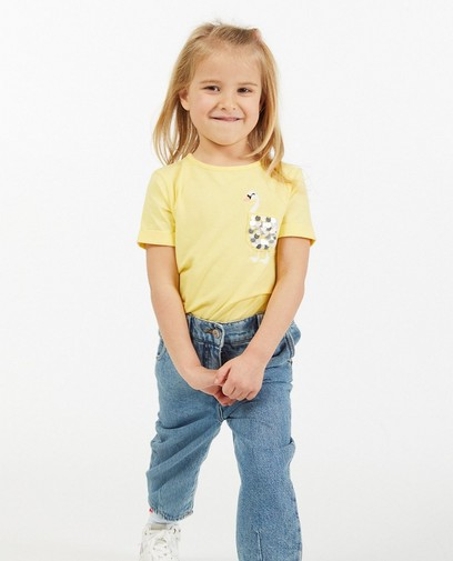 T-shirt jaune avec un cygne