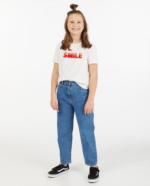 t-shirt blanc à inscription - en coton bio - Fish & Chips