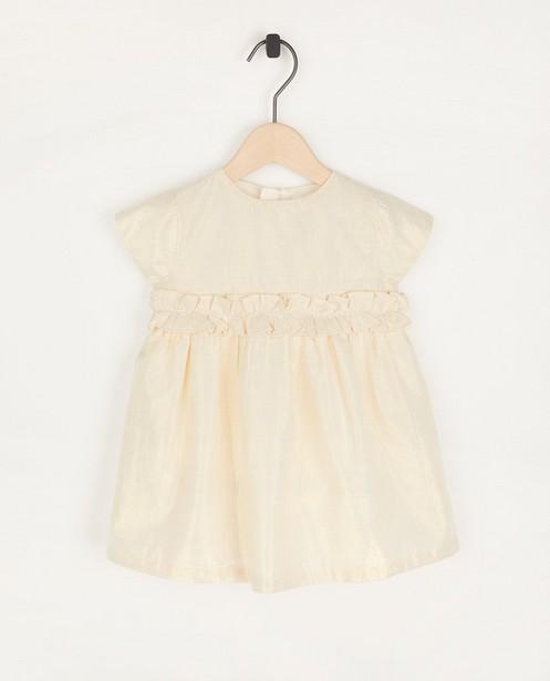 Goudkleurige jurkje Feest - met metaaldraad - Cuddles and Smiles