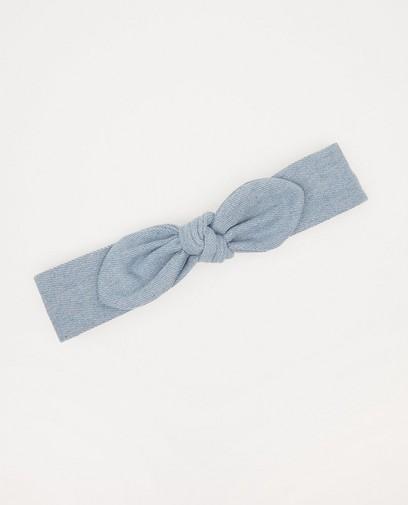 Bandeau bleu avec nœud