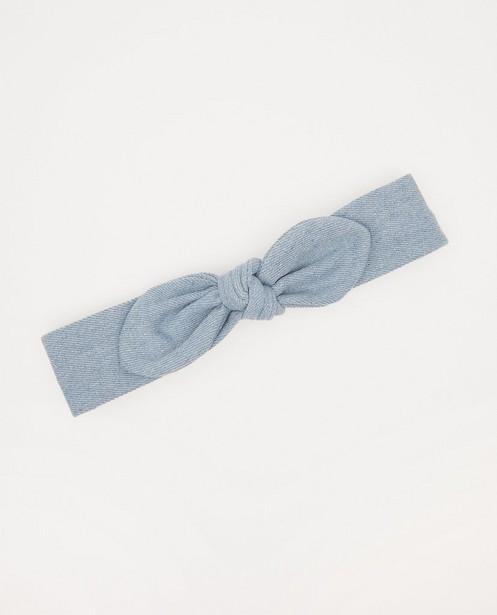 Blauwe haarband met strik - denim - JBC