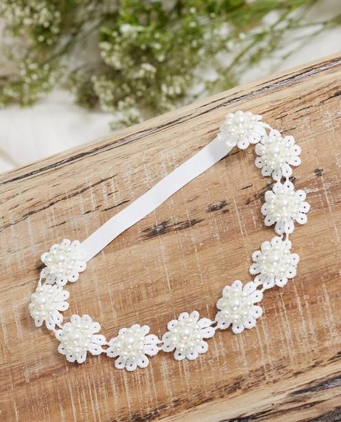 Bandeau à petites fleurs Communion - avec des perles - JBC