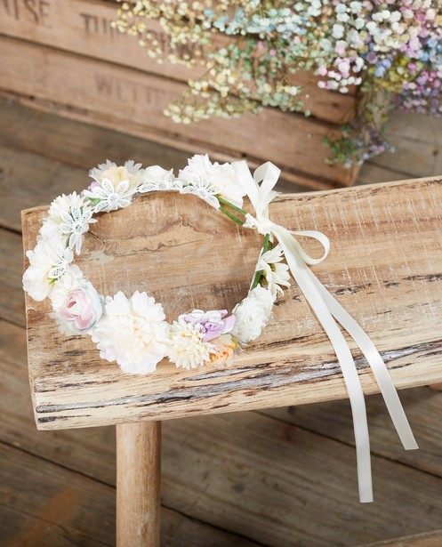 Couronne de fleurs Communion - avec ceinture à nouer - JBC