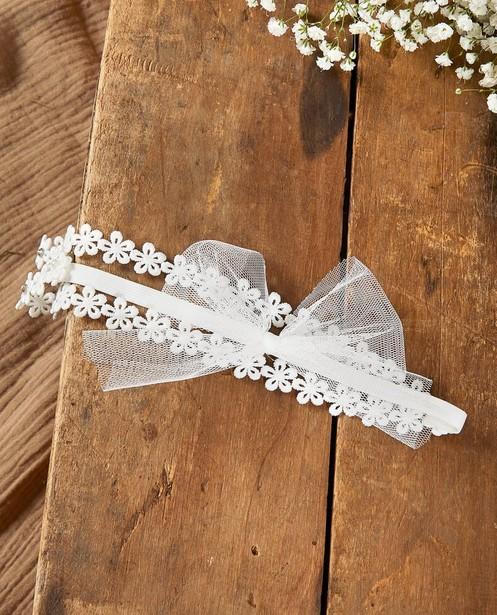 Bandeau à petites fleurs Communion - et nœud - JBC