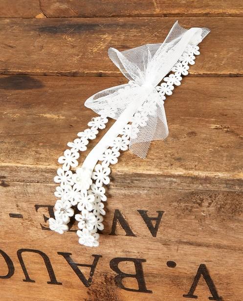 Breigoed - Haarband met bloemetjes Communie