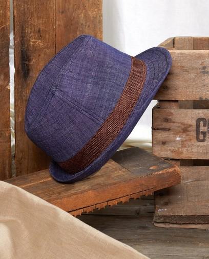 Blauwe hoed Communie