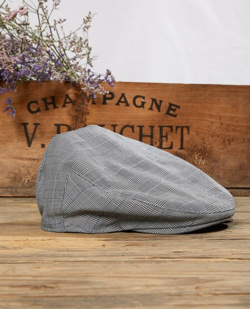 Casquette grise à carreaux Communion - imprimé intégral - JBC
