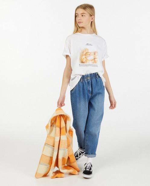 Wit T-shirt met print - stretch - Groggy