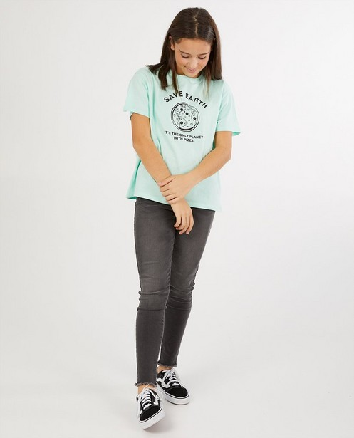 Mintgroen T-shirt met print - stretch - Groggy