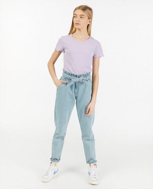 Gestreept T-shirt met ribreliëf - allover - Groggy