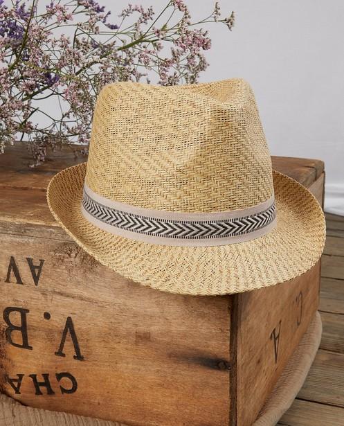 Chapeau tressé avec ruban Communion - beige - JBC