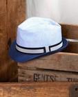 Blauwe hoed met band Communie - met geweven structuur - JBC