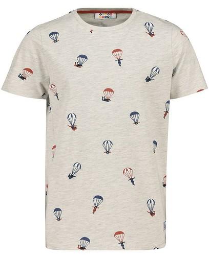T-shirt gris clair à imprimé