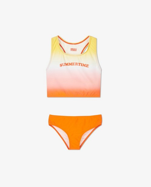 Bikini met gradiënt en opschrift - 'summertime' - Fish & Chips