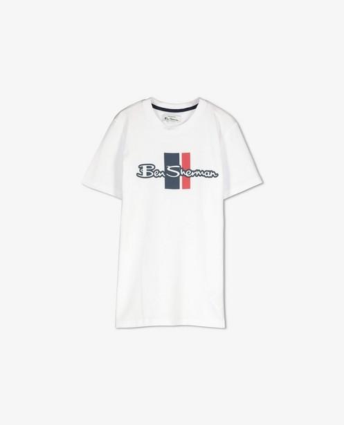 T-shirt blanc à imprimé Ben Sherman - avec du stretch - Ben Sherman