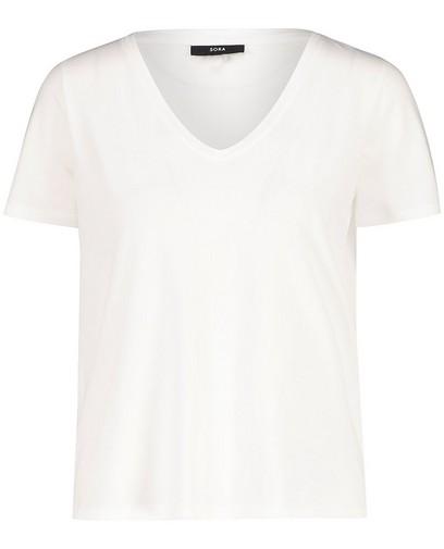 Wit T-shirt van biokatoen Sora