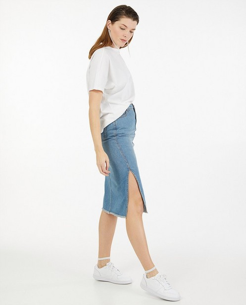 T-shirt blanc en coton bio Sora - stretch - Sora