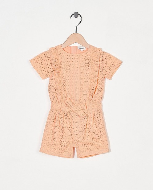 Oranje jumpsuit Feest - premium - Cuddles and Smiles