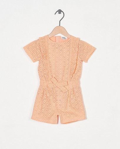 Oranje jumpsuit Feest