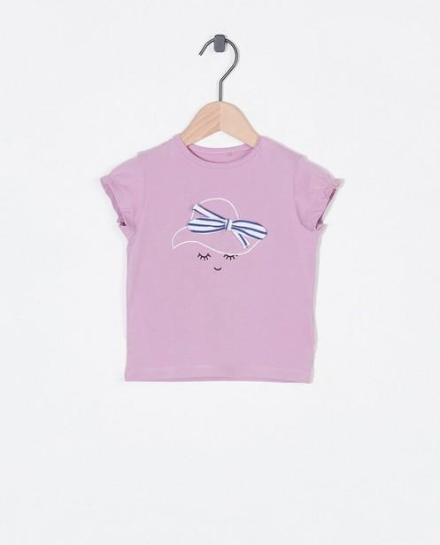 T-shirt lilas à imprimé - avec un petit nœud - Cuddles and Smiles