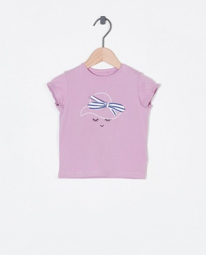 T-shirt lilas à imprimé