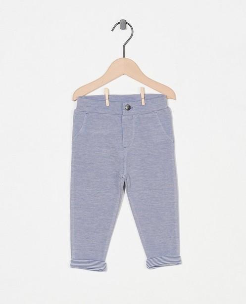 Pantalon bleu à micro-imprimé - en coton bio - Cuddles and Smiles