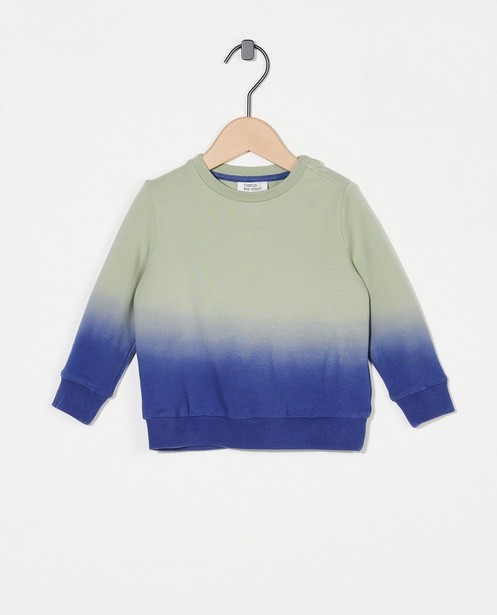 Sweat vert bleu dip dye - en coton bio - Cuddles and Smiles