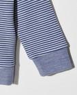 Sweats - Sweat rayé bleu et blanc
