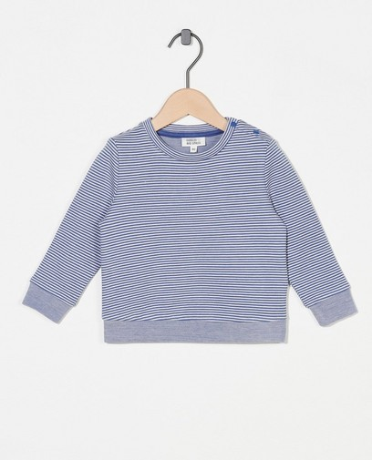 Blauw-wit gestreepte sweater