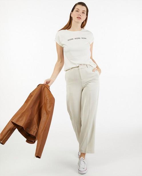 T-shirt blanc en coton bio Sora - à inscription - Sora