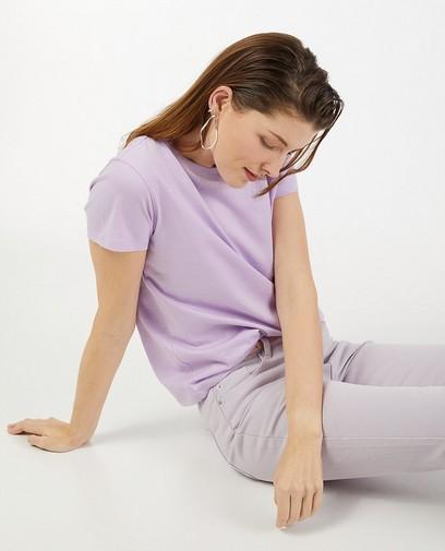 T-shirt lilas en coton bio Sora