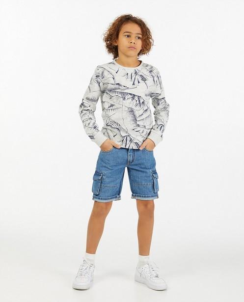 Short en jeans bleu Garde de Nuit - avec des poches à rabat - Nachtwacht