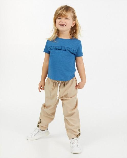 Pantalon beige en lyocell mélangé - ceinture à nouer - Milla Star
