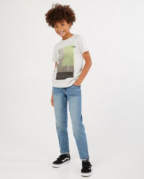 Grijs T-shirt met print Nachtwacht - gemêleerd - Nachtwacht