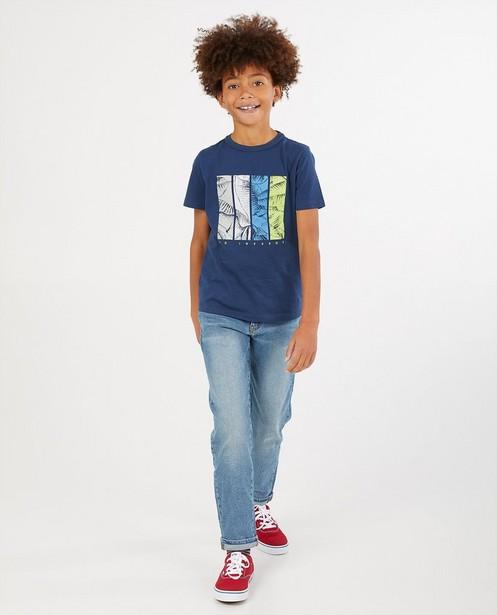 Blauw T-shirt met print Nachtwacht - van biokatoen - Nachtwacht