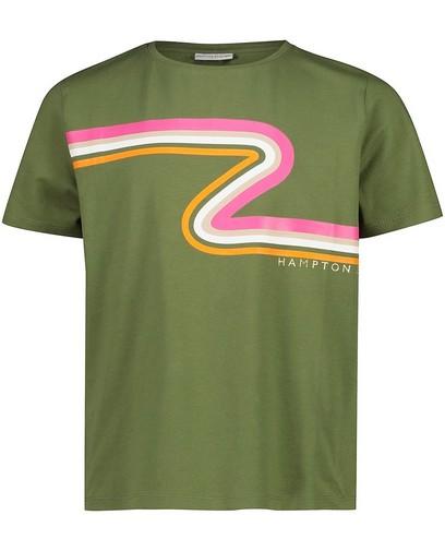 T-shirt vert à rayures Hampton Bays