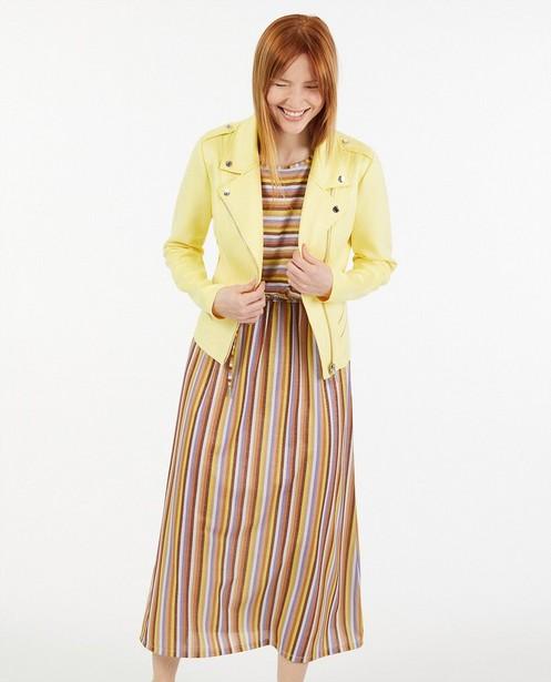 Geel jasje van imitatie suède Sora - met ritssluiting - Sora