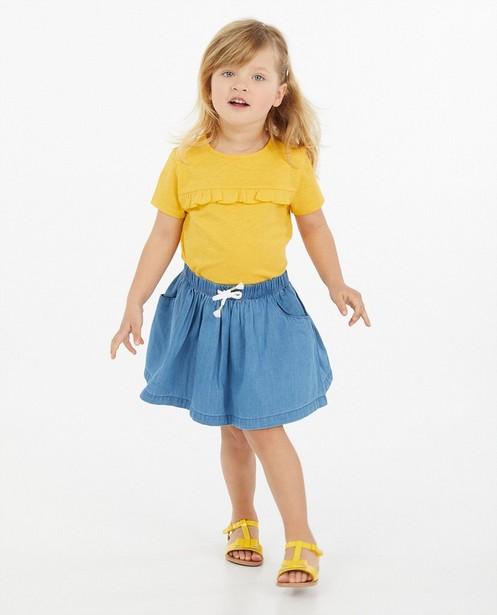 Geel T-shirt met ruches - van katoen - Milla Star