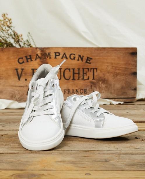 Baskets blanches à paillettes, pointure 30-38 - paillettes argentées - Sprox