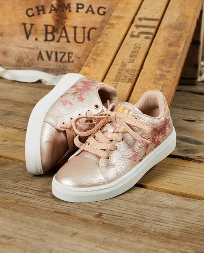 Roze sneakers met print, maat 30-38