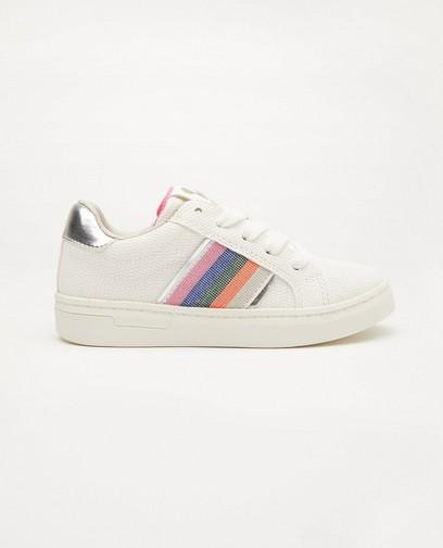 Witte sneakers met streep, maat 27-32